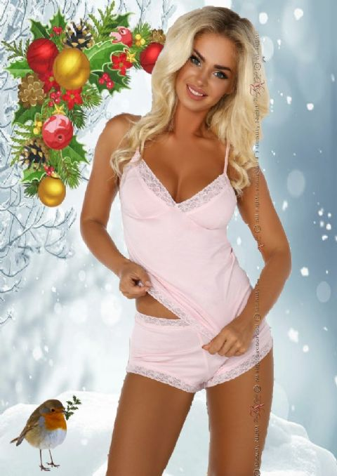 Beauty Night - Marcy Cami set Pale Pink